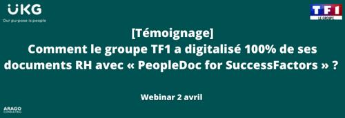 [Témoignage] Comment le groupe TF1 a digitalisé 100% de ses documents RH avec « PeopleDoc for SuccessFactors » _
