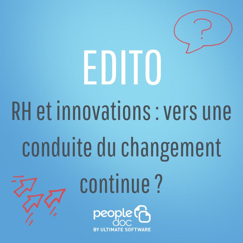 RH et innovations : vers une conduite du changement continue ?