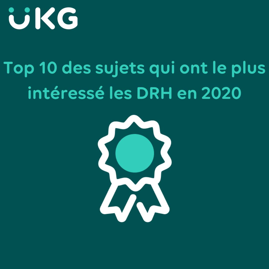 Top 10 des sujets qui ont le plus intéressé les DRH en 2020