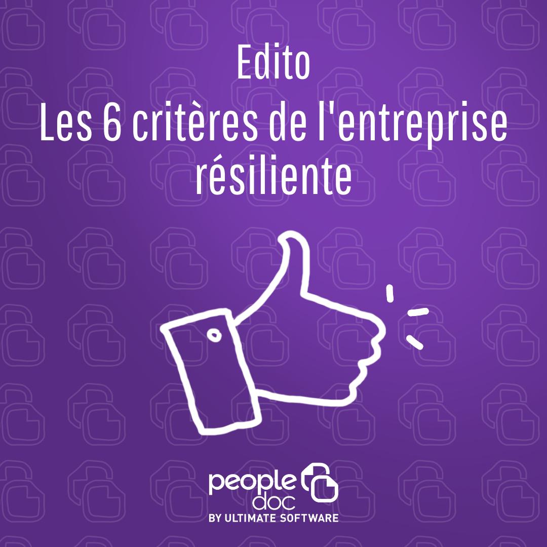 Les 6 critères de l'entreprise résiliente