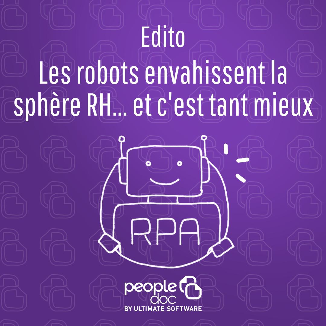 Les robots envahissent la sphère RH… et c'est tant mieux